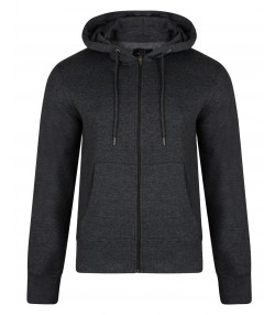 Smith & Jones Men's Zip Up Hoodie Charcoal Marl | Jean Scene