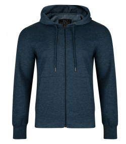 Smith & Jones Men's Zip Up Hoodie Majolica Marl | Jean Scene