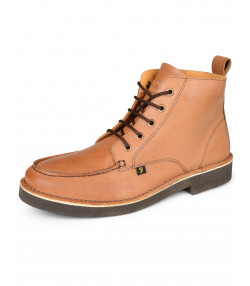 Farah Mens High Leather Mid East Boots Tan Shoes   Jean Scene