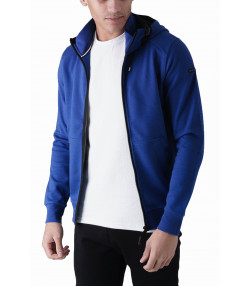 Duck and Cover Zip Up Men's Helm Hoodie Ultra Marine | Jean Scene