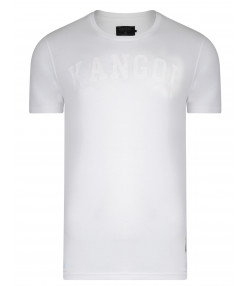 Kangol Study Crew Neck Cotton Plain T-shirt White | Jean Scene