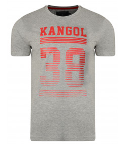 Kangol Handley Crew Neck Cotton Logo T-shirt Grey Marl | Jean Scene
