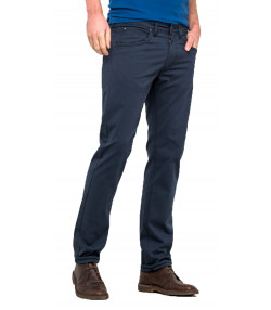 Lee Daren Zip Regular Slim Navy Chino Jeans | Jean Scene