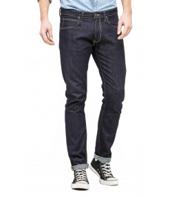 Lee Luke Slim Tapered Faded Urban Dark Denim Jeans | Jean Scene