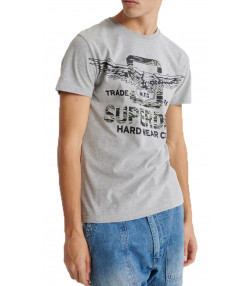 Superdry Grey Marl Classic Men's T-Shirt Grey Marl | Jean Scene