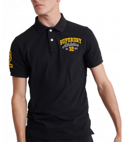 Superdry Men's Classic Superstate Polo Shirt Black | Jean Scene