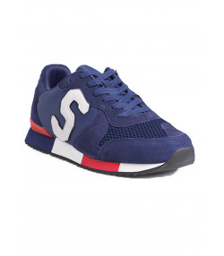 Superdry Men's Retro Runner Shoes Lauren Navy | Jean Scene