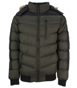Soul Star Winter Padded Puffer Jacket Khaki | Jean Scene