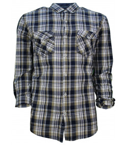 Soulstar Casual Check Shirt Long Sleeve Khaki | Jean Scene