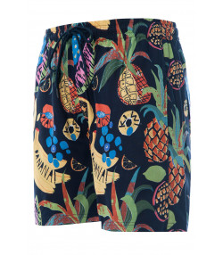 Soulstar Print Hawaiian Cocktail Shorts Navy | Jean Scene