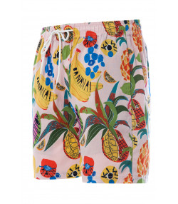Soulstar Print Hawaiian Cocktail Shorts Light Pink | Jean Scene