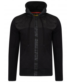 Ringspun Zip Up Men's Harvington Hoodie Black | Jean Scene