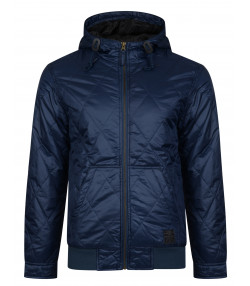 Ringspun Krarup Short Hooded Jacket Navy | Jean Scene