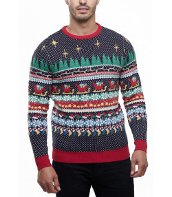 Christmas Jumper Funny Crew Neck Cracking Multi | Jean Scene