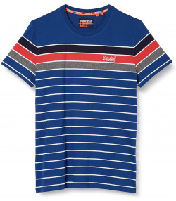 Superdry OL Bretton Stack Men's T-Shirt True Blue | Jean Scene