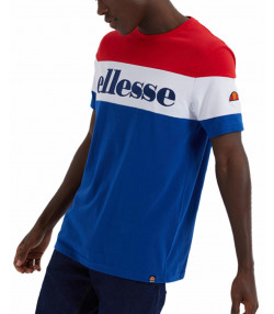 Ellesse Logo T-Shirt Short Sleeve Blue/Red | Jean Scene