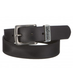 Wrangler Basic Metal Loop Leather Belt Black | Jean Scene