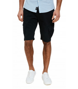 Threadbare Chino Cargo Bermuda Shorts Black | Jean Scene