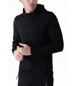 Duck and Cover Overhead Men's Stern Hoodie Black | Jean Scene