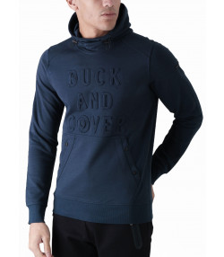Duck and Cover Overhead Men's Stern Hoodie Deep Navy | Jean Scene