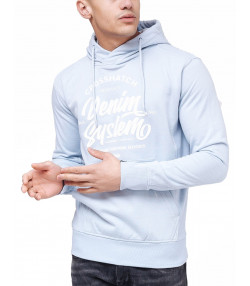 Crosshatch Overhead Men's Taringa Hoodie Kentucky Blue | Jean Scene