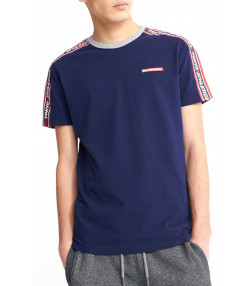 Superdry Trophy Colour Block Men's T-Shirt Rich Navy | Jean Scene