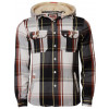 Tokyo Laundry Hooded Check Shirt Brown Orange Image