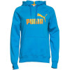 Puma Hooded Sweatshirt Turquoise Blue Image