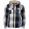 Tokyo Laundry Hooded Check Shirt Blue Image
