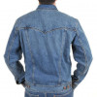 Wrangler Western Denim Jacket Mid Stone